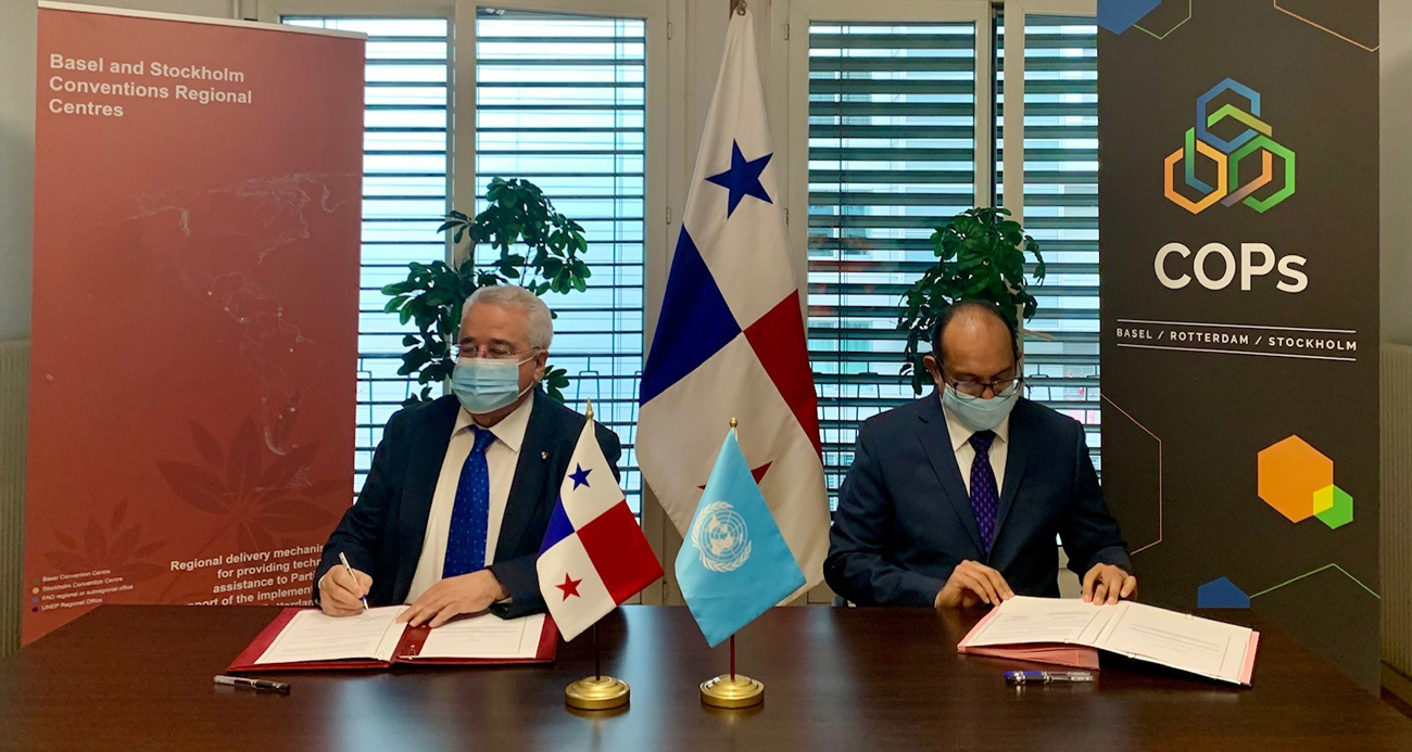 BRS and Government of Panama sign cooperation agreement for new Basel Convention Regional Centre for Central America and Mexico