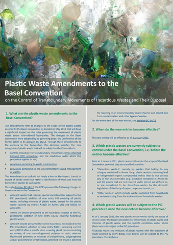 Plastic waste amendments to the Basel Convention FAQs