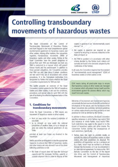 Controlling transboundary movements of hazardous wastes