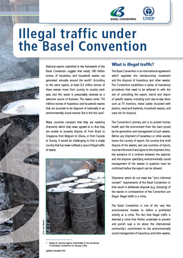 Illegal traffic under the Basel Convention