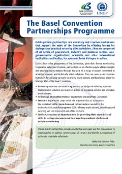 The Basel Convention Partnerships Programme