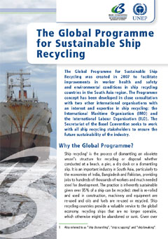 The Global Programme for Sustainable Ship Recycling