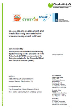 Socio-economic assessment and feasibility study on sustainable e-waste management in Ghana