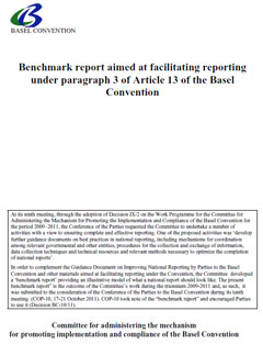 Benchmark report aimed at facilitating reporting under paragraph 3 of Article 13 of the Basel Convention