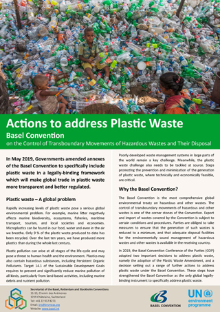 Actions to address Plastic Waste